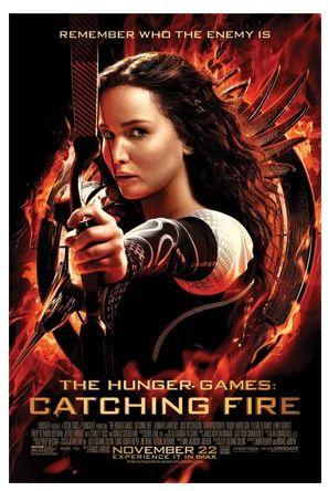 Gifts for Teen Fans of The Hunger Games Catching Fire:  Katniss Movie Poster @ Amazon