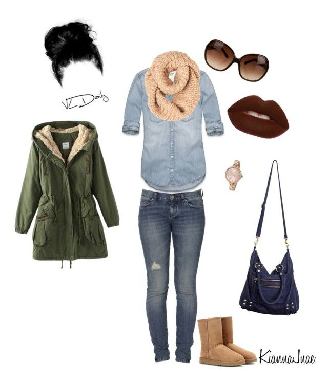 """""""Untitled #2"""" by kiannajnae ❤ liked on Polyvore featuring Abercrombie & Fitch, Ksubi, Tory Burch, UGG Australia, Marc by Marc Jacobs, Lime Crime and Linea Pelle"""