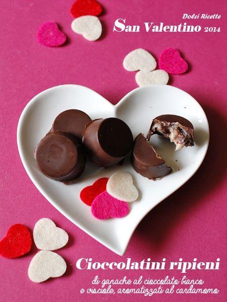 #Cioccolatini ripieni con ganache al cioccolato bianco e...