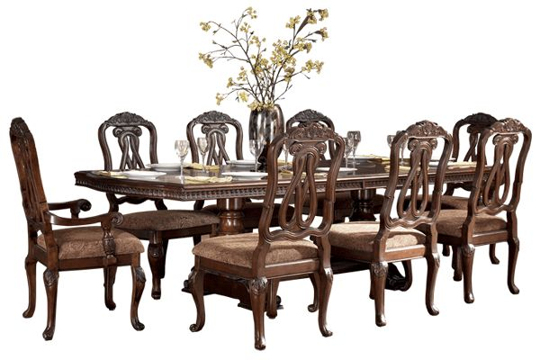 O'Brien's dining room table minus two chairs from Ashley furniture's North shore collection