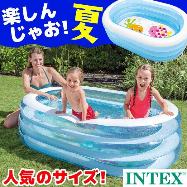 楽天市場 プール Intex インテックス オーバルプール 163 107 46cm