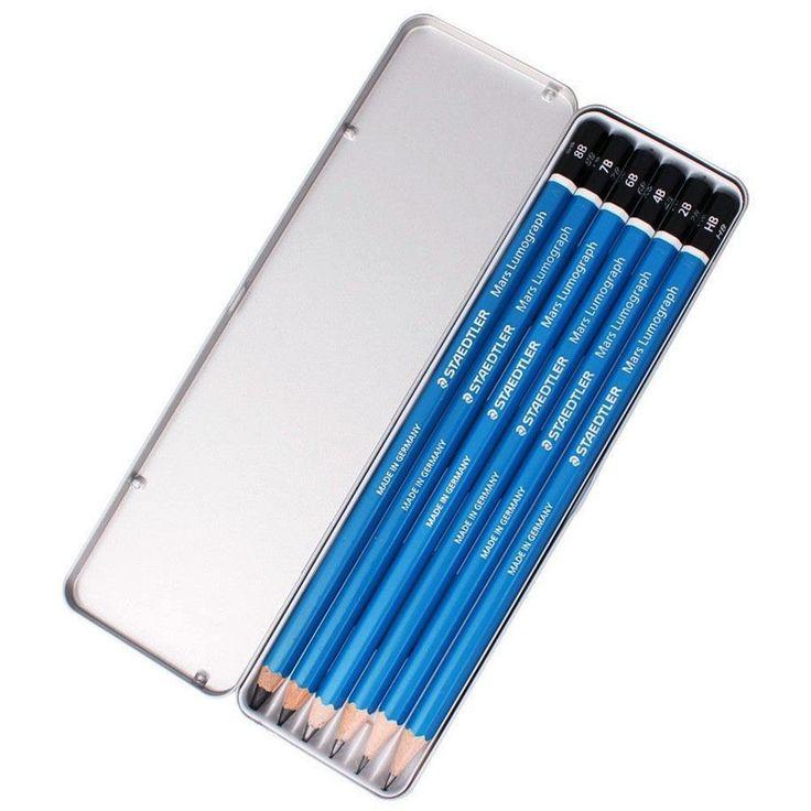 Staedtler Mars Lumograph 100 G6 Premium Quality Pencil Metal Tin 6Set (8B~HB) #Staedtler