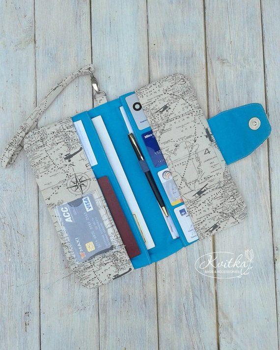 Leather Passport Case - Bright Flowers by VIDA VIDA 7lPsn8