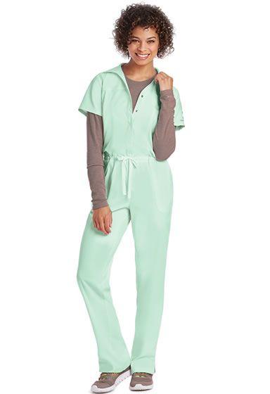KD110 5 Pocket Women's Jumpsuit. Shop Now: http://www.nationalscrubs.com/KD110-Barco-Uniform-Scrubs-s/120576.htm