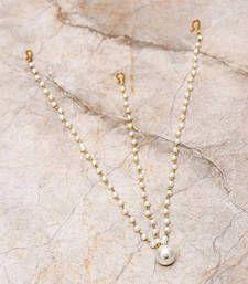 Buy Pearl Drop 3 Chain Maatha Patti maang-tikka online