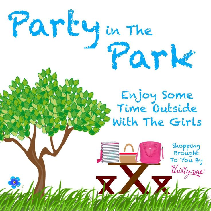 Party in the park!  Just bring a few friends, and I'll bring the bags. 31 bag, 31 bags, direct sales party themes www.ihaveyourbag.com #thirtyone #ihaveyourbag #park