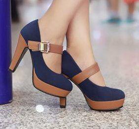 Free shipping 2013 news high heel shoes heels women dress footwear fashion buckle sexy pumps P2583  hot sale size 34-39 $48.99