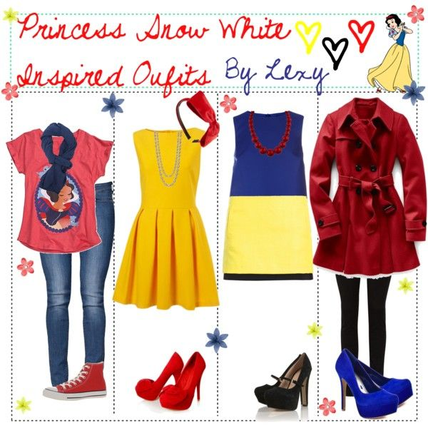 """""""Princess Snow White Inspired Outfits♥"""" by ..."""