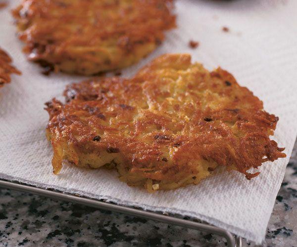 Classic Potato Pancakes (Latkes)   Recipe   Potato latkes, Salts and ...