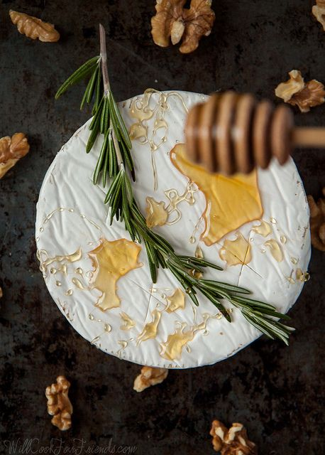 Baked Brie with Rosemary, Honey, and Candied Walnuts