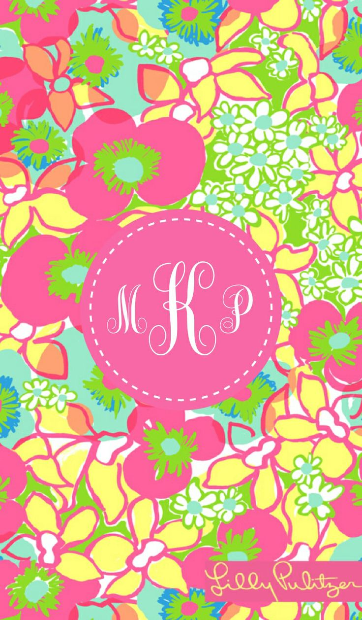 Lilly Pulitzer iphone monogrammed wallpaper by kati3pleasant made with @MonogramApp