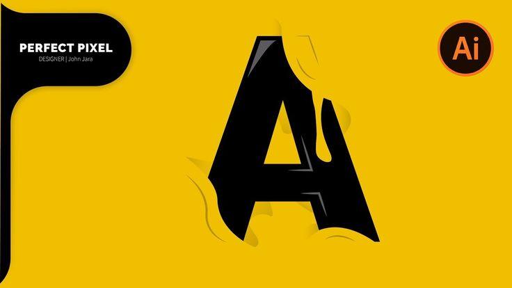 Illustrator Tutorials | A Letter Logo Design