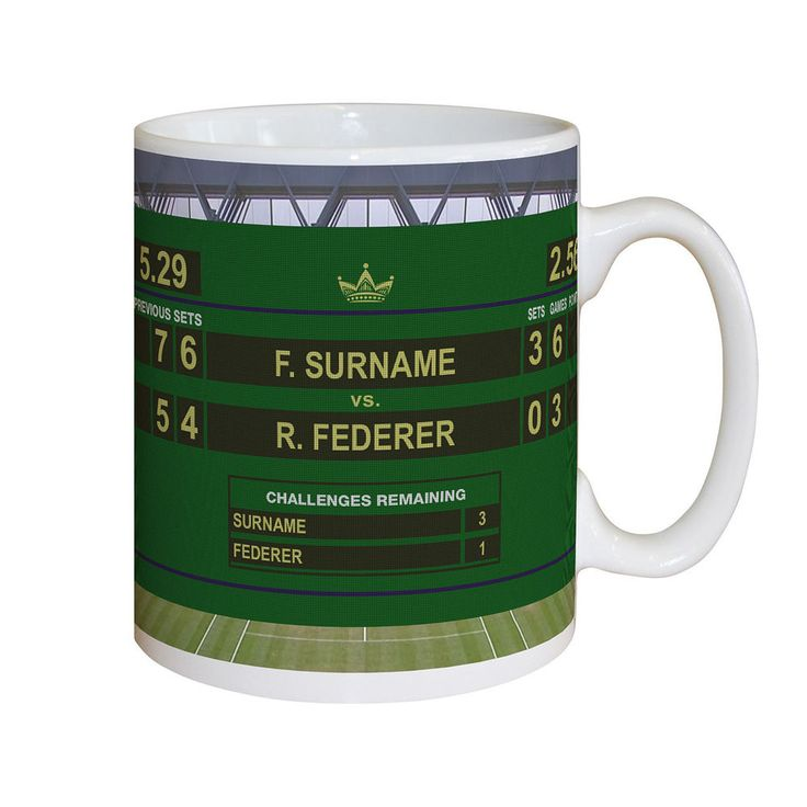 Personalised TENNIS Final Mug Gift Opponent's & Recipient's Name Added in Sports Memorabilia, Tennis Memorabilia