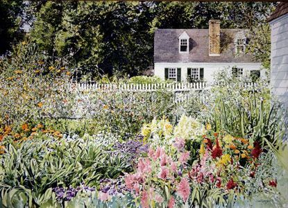 Late Summer Garden (David Coolidge watercolor)