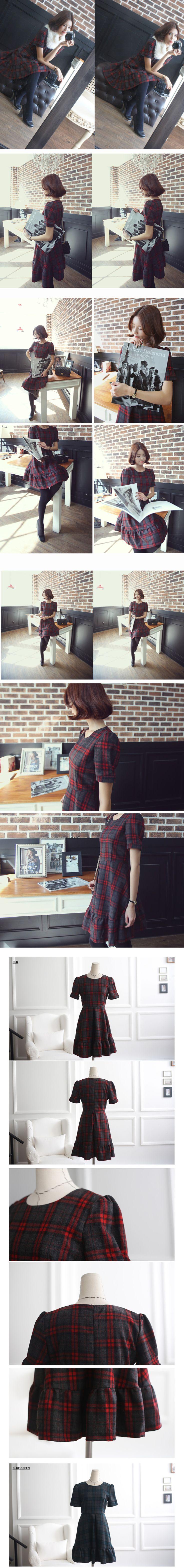 ba) チェックホリックワンピース(2色) - 韓国ファッション通販【セレクトショップKii-Na】キーナ