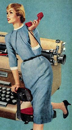1960s Office Women | Office Girls on Pinterest | Typewriters, Vintage Typewriters and 1940s