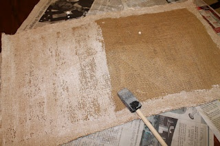 painting burlap tips