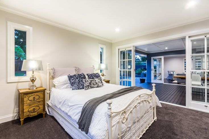 Hamptons bedroom. Staged, styled and sold by www.capecodresidential.com.au Image courtesy www.realestatepics.com.au