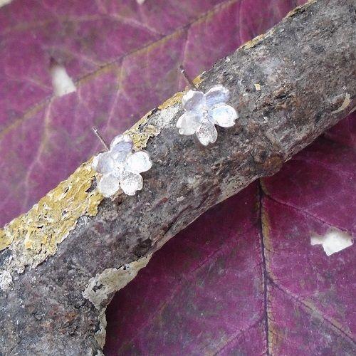 Blüte, Blume, Ohrringe, Ohrstecker, 925 Sterling Silber in Uhren & Schmuck, Echtschmuck, Ohrschmuck | eBay