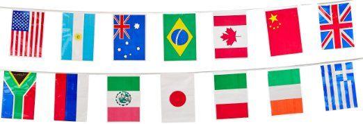 Beistle 57738 International Flag Banner, 12-Inch by 23-Feet