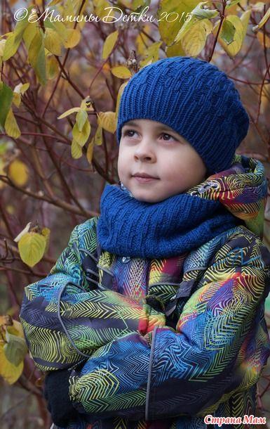 Девочки всем доброго времени суток)  Приглашаю всех желающих связать со мной новый комплект) вяжу шапочку и снуд для младшего сыночка)