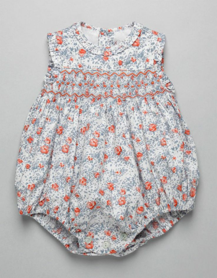 Coral And Grey Infant Bubble Dress From Neck And Neck