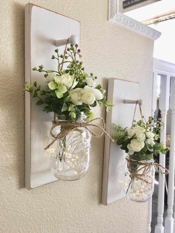 Wohnkultur Einmachglas Wandleuchter Einmachglas De…