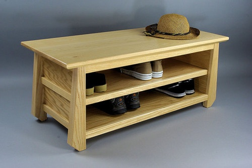 Japanese Tansu Style Shoe Storage Bench by Woodistry - asian - clothes and shoes organizers - Etsy
