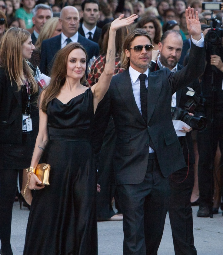 thiis is the moneyball gala at tiff l went to see brad pitt and angilina jolie  im right above her hand looks like shes holding my head up lol. this was in 2011