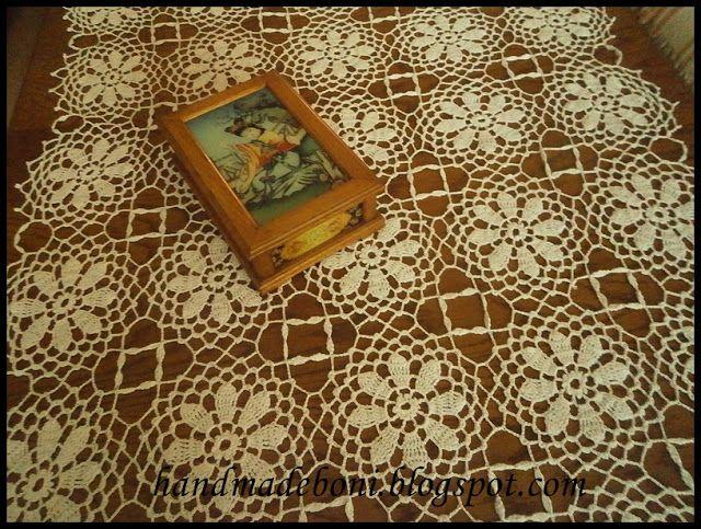 HandmadeBoni: Kwiatowy bieżnik 120x70 cm. Zrób razem ze mną :-)