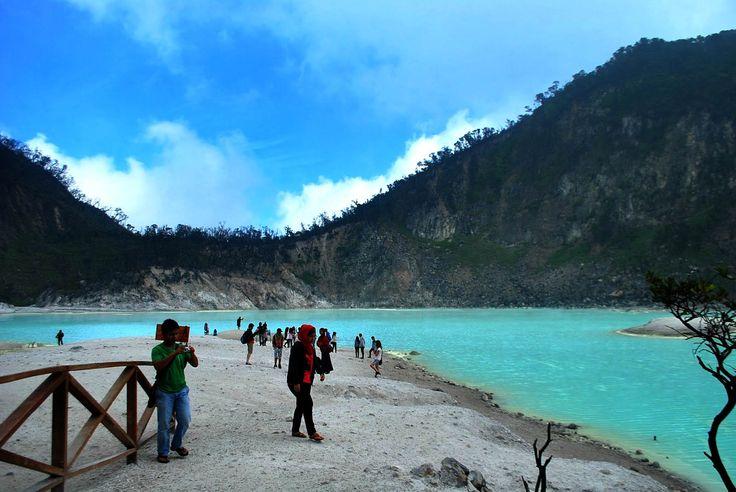 Amazing Nature tourism Crater Putih, Ciwidey Bandung, Indonesia