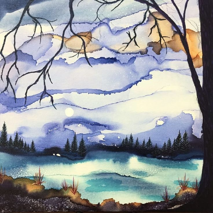 I've just started painting with Alcohol Ink on canvas and I am LOVING it!  If you've tried this, you may have noticed, as I did at first, that the canvas absorbs a LOT of the ink, and you don't get...