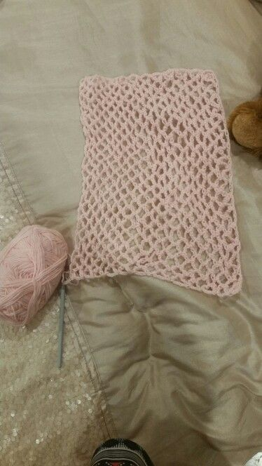 Diamond lace stitch crochet.  Square two of my blanket project.