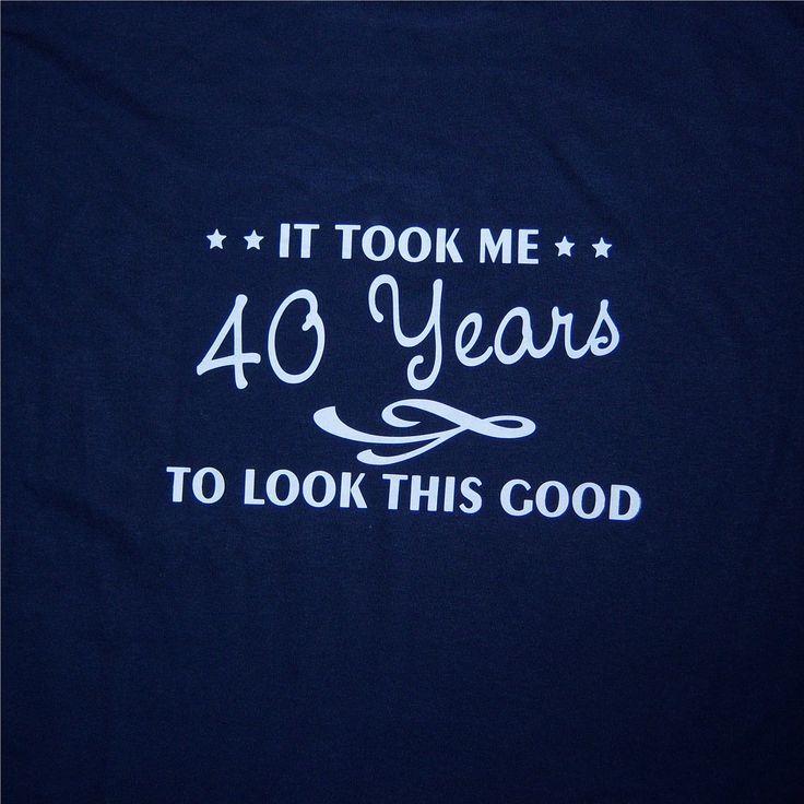 40th birthday shirt great custom gift. $14.00, via Etsy.
