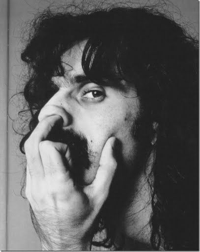 Frank Zappa searching for inspiration with his middle finger