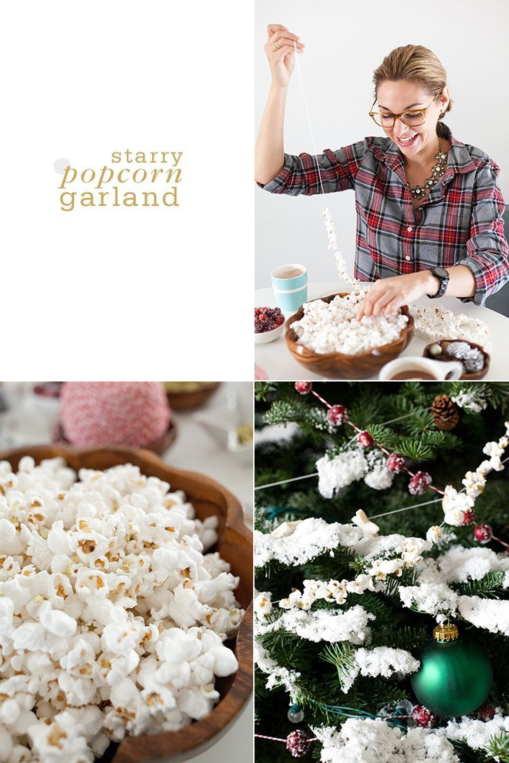 Starry Popcorn Garland Trim the Tree with Four Homemade Garlands