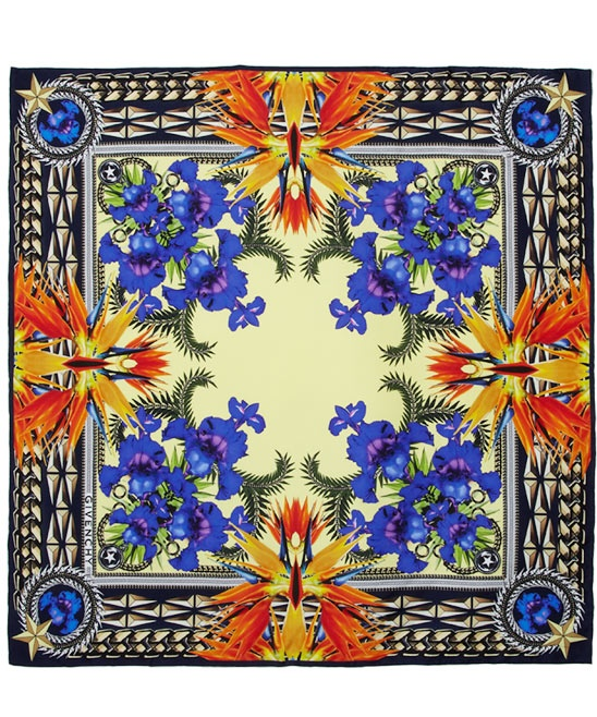INSANE scarf from Givenchy. So regal and intricate. I love love love it!