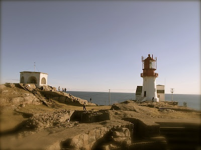 Happy at Lindesnes Lighthouse