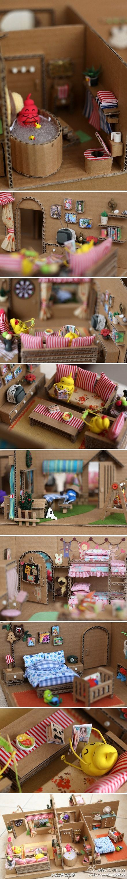 35 ideas para hacer una casita de muñecas                                                                                                                                                     Más