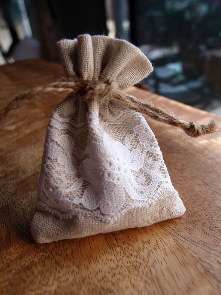 wedding favors ideas do it yourself%0A wedding favors DIY  See more  linen and lace favor bags