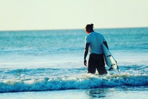 Sunset surfing Tamarindo Costa Rica