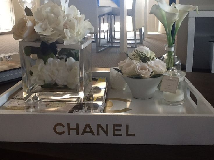 Chanel Tray Black White Gold Pinterest