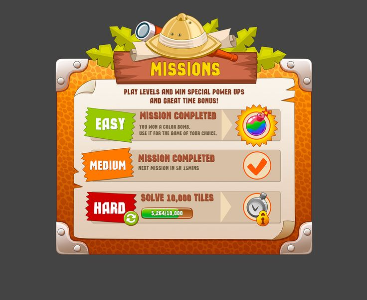 GUI and stuff for games on Behance
