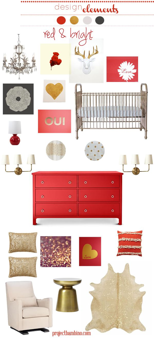 red and bright #nursery