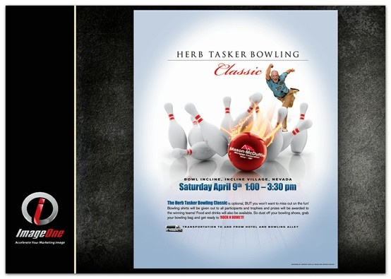Herb Tasker Classic 2011 - Bowling poster design for Mason - bowling flyer template