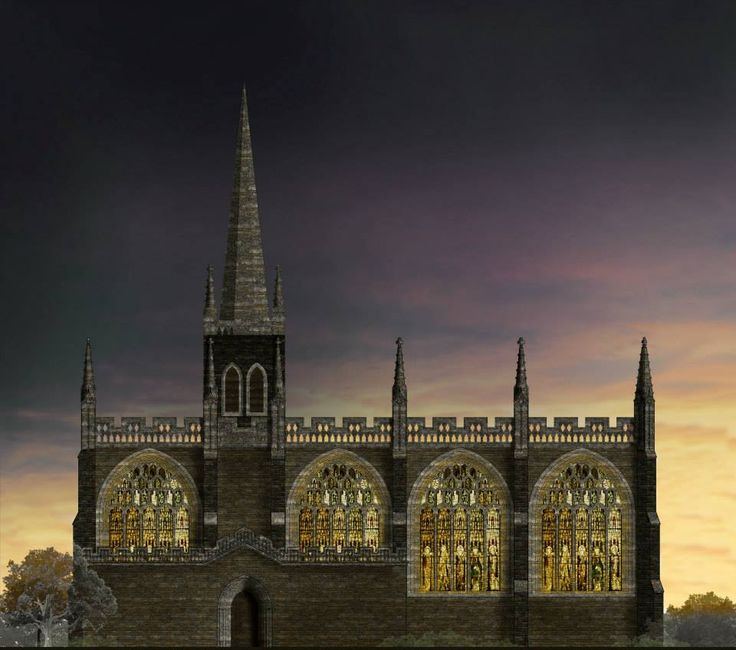 De Montfort University MA Architecture students researched medieval building methods to re-create the Church of the Annunciation, which once stood on what is now DMU campus.