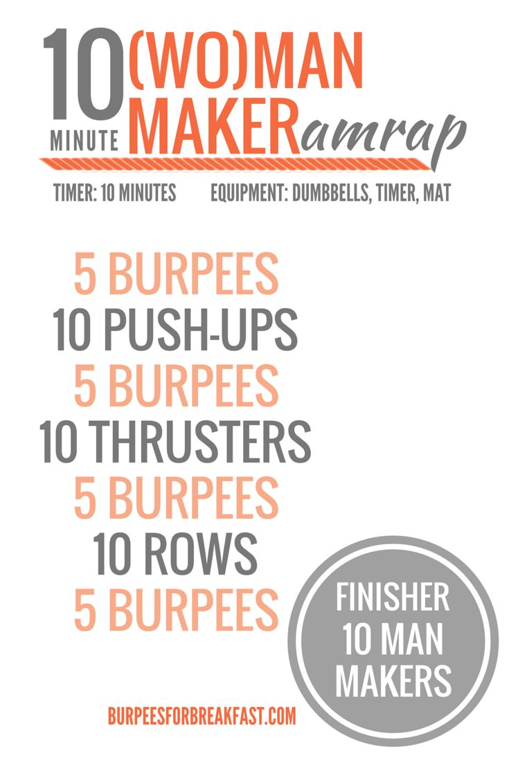 man makers workout