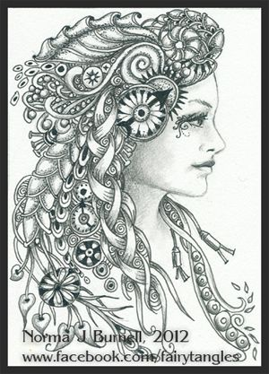 33 Best Zentangle Fairy Images On Pinterest