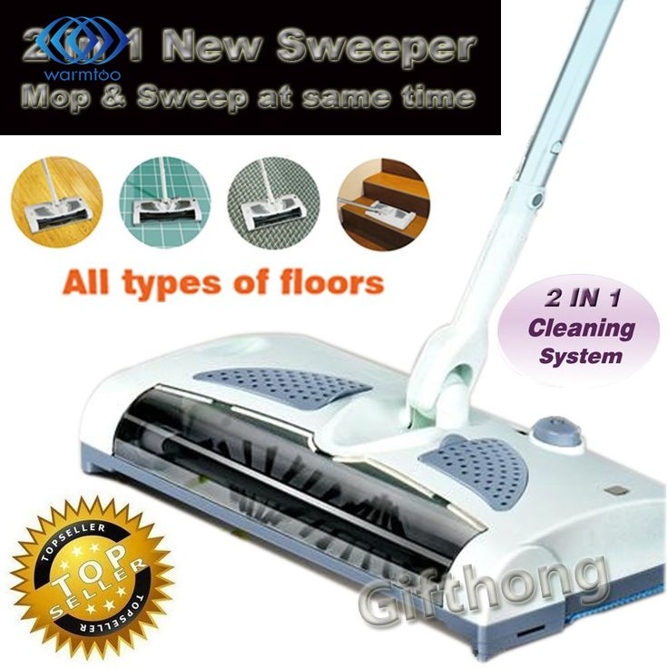 NEUE 2 in 1 Schnurlose Elektrische Kehrmaschine Und Mopp Wiederaufladbare batterie Dreh Stange 360 Grad Für Teppich Boden Fliesen Harte holz