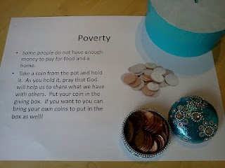 Poverty Prayer Station - praying for those who live in poverty in this country and the wider world